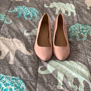 Torrid Pink Suede Block Heels